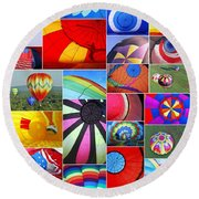 Balloon Fantasy Collage Round Beach Towel