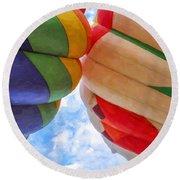Balloon Fist Bump Round Beach Towel