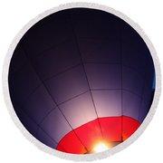 Balloon-glowpurple-7710 Round Beach Towel