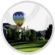Balloon House Round Beach Towel