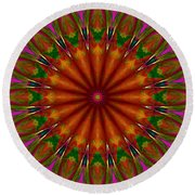 Balloon Kaleidoscope Round Beach Towel