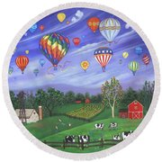 Balloon Race One Round Beach Towel