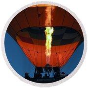 Balloon Ride At Dawn Round Beach Towel