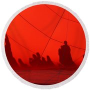 Balloon Shadows Round Beach Towel