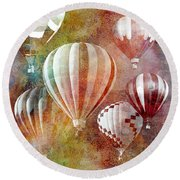 Balloons 3 Round Beach Towel