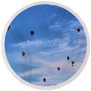 Balloons Galore Round Beach Towel