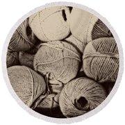 Balls Of String Round Beach Towel