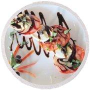 Balsamic Salad Round Beach Towel
