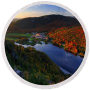 Balsams Sunset Round Beach Towel