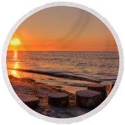 Baltic Sun Round Beach Towel