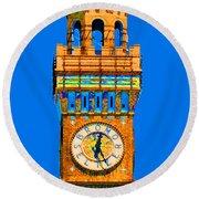 Baltimore Clock Tower Round Beach Towel