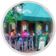 Baltimore - Happy Hour In Fells Point Round Beach Towel