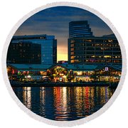Baltimore Harborplace Light Street Pavilion Round Beach Towel