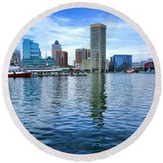 Baltimore On The Water Round Beach Towel