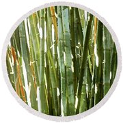 Bamboo Abstract Round Beach Towel