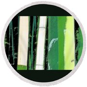 Bamboo Abstraction Round Beach Towel