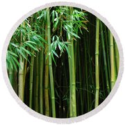 Bamboo Forest Maui Round Beach Towel