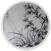 Bamboo Impression Round Beach Towel