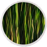 Bamboo In Motion Round Beach Towel
