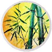 Bamboo Magic Round Beach Towel by Nirdesha Munasinghe