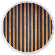 Bamboo Mat Texture Round Beach Towel by Tim Hester