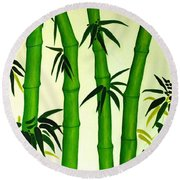 Bamboos Round Beach Towel