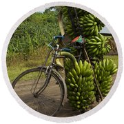 Banana Bike Round Beach Towel
