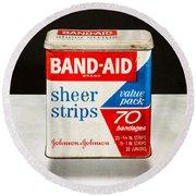 Band-aid Box Round Beach Towel