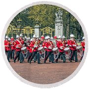 Band Of The Guard Round Beach Towel