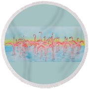 Band On The Run Round Beach Towel