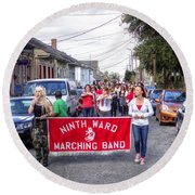 Band Practice In The Bywater Round Beach Towel
