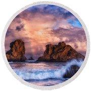 Bandon Beauty Round Beach Towel by Darren  White