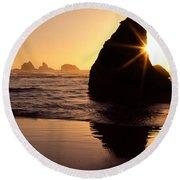 Bandon Golden Moment Round Beach Towel