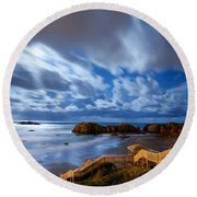 Bandon Nightlife Round Beach Towel