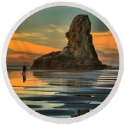 Bandon Photographer Round Beach Towel