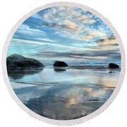 Bandon Rock Garden Round Beach Towel
