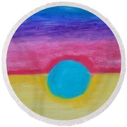Bands Of Color Round Beach Towel