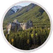 Banff Fairmont Springs Hotel Round Beach Towel