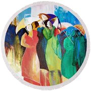 Bangalore Rain Round Beach Towel