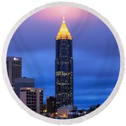 Bank Of America Plaza Round Beach Towel