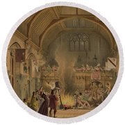 Banquet In The Baronial Hall, Penshurst Round Beach Towel
