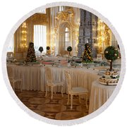 Banquet Room Summer Palace St Petersburg Russia Round Beach Towel