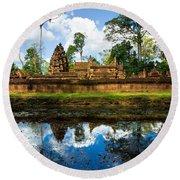 Banteay Srei - Angkor Wat - Cambodia Round Beach Towel