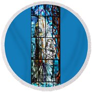 Baptism Of Jesus  Round Beach Towel