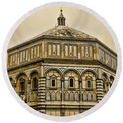 Baptistry - Florence Italy Round Beach Towel