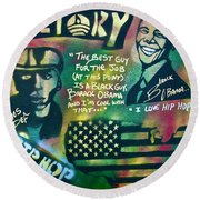 Barack And Mos Def Round Beach Towel