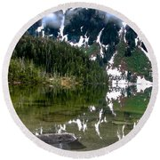 Baranof Lake Round Beach Towel