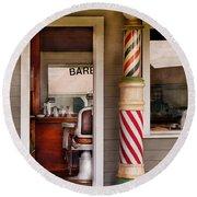 Barber - I Need A Hair Cut Round Beach Towel