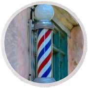 Barber Pole Round Beach Towel