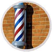 Barber Shop Round Beach Towel